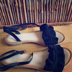 Suede Braid Detailed Sandals